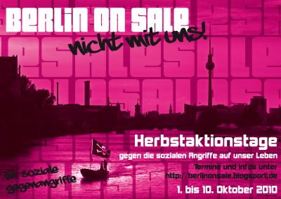 Berlin on sale - nicht mit uns!